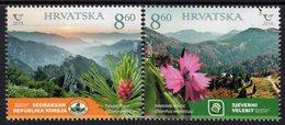 Croatia - 2019 - National Parks - Severni Velebit And Seoraksan - Joint Issue With South Korea - Mint Stamp Set - Kroatien