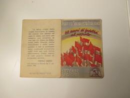 1953 TESSERA Partito Socialista Italiano Segretario Pietro Nenni - Alte Papiere