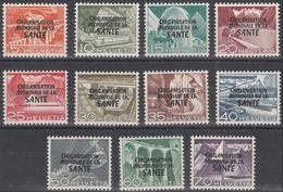Schweiz Suisse 1950: Dienst VI.Service ORGANISATION MONDIALE DE LA SANTÉ OMS Zu+Mi 6-16 * MLH (Zumstein CHF 55.00 -50%) - Service