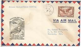 CANADA 1937 PRIMER VUELO PRINCE GEORGE TAKLA LANDING MUSKRAT - Roedores