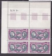 N° 47 P.A  Hélène Boucher Et Maryse Hilsz: Coins Datés 9.6.72 Très Beau Bloc 4.timbres Neuf Impeccable - 1960-.... Nuevos