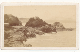 BIARRITZ, Rochers -  Photo CDV - P. Frois, Biarritz - Old (before 1900)