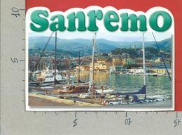 CARTOLINA VG ITALIA - SAN REMO SANREMO (IM) - Il Porto - FUSTELLATA - 10 X 15 - 2001 ORDINE MERITO LAVORO - San Remo
