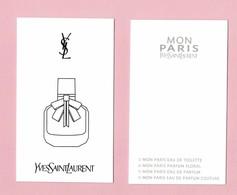 Cartes Parfumées  CARTE  YVES SAINT LAURENT MON PARIS RECTO VERSO - Cartes Parfumées