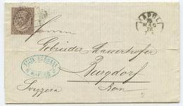 1876 Italien Brief Neapel Nach Burgdorf Schweiz - 1861-78 Victor Emmanuel II.