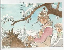 Jeremiah à Cheval Dans La Neige. Signée Hermann - Bandes Dessinées