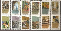France: Full Set Of 12 Used Stamps, Cubism Art, 2012, Mi#5329-5340 - Francia