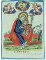 Ancienne Image Religieuse Rehaussée Main. S.Joseph. Cornelius De Boudt. - Devotieprenten