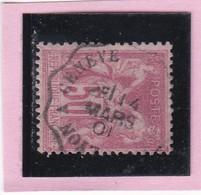SAGE N° 104  - CACHET A DATE  CONVOYEUR  LYON A GENEVE  -  4 MARS.1901  - 1602 -  Bien Centré - 1898-1900 Sage (Type III)