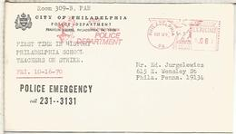 ESTADOS UNIDOS USA 1970 FRANQUEO MECANICO METER POLICIA POLICE - Polizei - Gendarmerie
