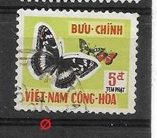 VIETNAM DEL SUD - 1962 TAX STAMPS BUTTERFLIES YV#19  USED - Vietnam