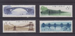 CHINE : N° 1392/95 ** . TB  . 1962 . ( CATALOGUE YVERT ) . - 1949 - ... Volksrepublik