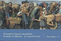 LUXEMBOURG  -  TIMBRES  2018  -  Première Guerre Mondiale - Famine Et Misère-Le Marché Noir - Blocs & Feuillets
