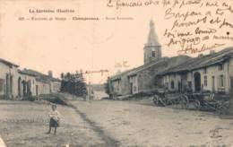 54 ENVIRONS DE NANCY CHAMPANOUX ROUTE NATIONALE CIRCULEE 1906 - Autres Communes