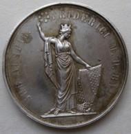 Médaille En Argent BADEN-DURLACH. FRIEDRICH I , Attribué à Karl KOBE - Professionnels/De Société