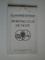 Carnet De Parcours De Golf Pour Le Sporting-Club De VICHY Par Albatros System - Deportes & Turismo