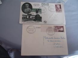 1953 Lyautez Lot Cm Carte Maximum Et Enveloppe 1 Er Jour - Storia Postale