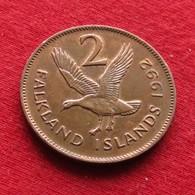 Falkland  Islands 2 Pence 1992 KM# 3  Malvinas Malwinen - Falkland Islands