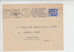 FRANCIA 1953 - ANNULLO MECCANICO  - ROUEN - VINS - Vini E Alcolici