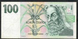 CZECH REPUBLIC  P18d 100 KORUN 1997 #F14     VF  NO P.h. - Tschechien