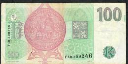 CZECH REPUBLIC  P18d 100 KORUN 1997 #40     VF  NO P.h. - Tschechien
