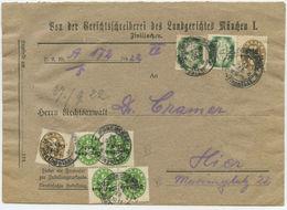 1922 Deutsches Reich Orts Dienst Brief München - Dienstpost