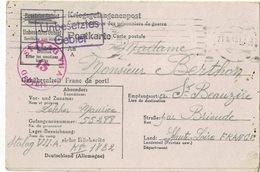 CARTE POSTALE MILITAIRE  PRISONNIER   STALAG  VII A   Adressée à SAINT BEAUZIRE (43) - Weltkrieg 1939-45