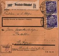 ! 1934 Paketkarte Deutsches Reich, Hessisch Oldendorf, Artern - Briefe U. Dokumente
