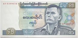 Myanmar - 45 Kyats - 1987 - PICK 64 - NEUF - Myanmar