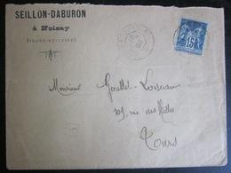 France - Enveloppe - Type Sage - 1897 - Tours - Noizay - 1876-1898 Sage (Type II)