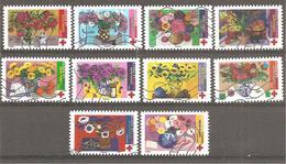FRANCE 2018 Auto Adhésif Y T N ° 1548/1557 Série Complète Oblitérée Croix Rouge - Used Stamps