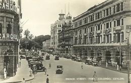 """6058""""PRINCE STREET -FORT COLOMBO-CEYLON""""ANIMATA-CART. POST. ORIG. NON SPED. - Sri Lanka (Ceylon)"""