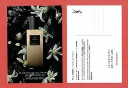 Cartes Parfumées Carte  ATLAS GARDEN De YVES SAINT LAURENT LE VESTIAIRE DES PARFUMS 15 Cm X 10.5 Cm - Cartes Parfumées