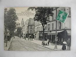 MONTROUGE - Avenue De La République - Vue Prise Du Rond Point (animée) - Montrouge