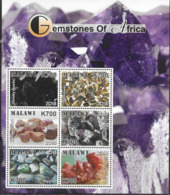 MALAWI, 2018, MNH, GESMTONES OF AFRICA, EMERALDS, SAPPHIRES, SHEETLET+ 6 S/SHEETS - Minerals