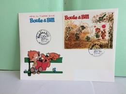 Bloc BF 46 Fête Du Timbre 2002 (Boule & Bill)- 59 Valenciennes - 16.3.2002 FDC 1er Jour Coté 10€ (Grande Enveloppe) - FDC