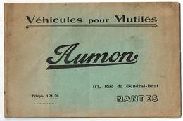 Catalogue AUMON Véhicules Pour Mutilés Fauteuil Voiture à Pousser Tricycles Lit - Livres, BD, Revues