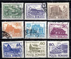 RO+ Rumänien 1991 Mi 4668 4702 4705-06 4711-15 Hotels - 1948-.... Repúblicas