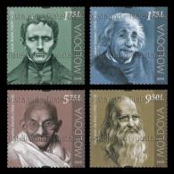 Moldova 2019 Mih. 1119/22 Louis Braille. Albert Einstein. Mahatma Gandhi. Leonardo Da Vinci MNH ** - Moldavia