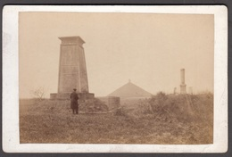 BELGIQUE -  Waterloo, Les 3 Monuments  C 1870 - Cabinet Photograph - Ancianas (antes De 1900)