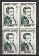 N° 952 Dr René Laennec Inventeur De La Machine à Coudre: : Beau Bloc De 4 Timbres Neuf Sans Charnière - Unused Stamps