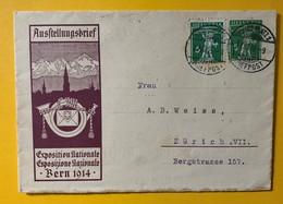 9459 - Ausstellungsbrief Bern 1914 Davos Platz 27.03.1915 - Entiers Postaux