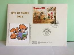 Bloc BF 46 Fête Du Timbre 2002 (Boule & Bill)- Paris - 16.3.2002 FDC 1er Jour Coté 10€ (Grande Enveloppe) - FDC