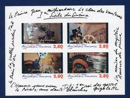 Bloc FEUILLET N° 17  A NON DENTELE NEUF** LUXE  1 SIECLE DE CINEMA - Blocks & Kleinbögen