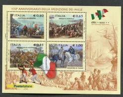 ITALIA ITALY - 2010 - FOGLIETTO - ANNIVERSARIO SPEDIZIONE DEI MILLE MNH**- 050 - 6. 1946-.. Repubblica