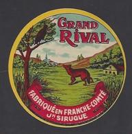 Etiquette De Fromage  -  Grand Rival  -  Joseph Sirugue  à  La Résie Saint Martin (70) - Formaggio