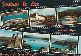 Carte Postale Des Années 70 Des Hautes-Alpes - Savines Le Lac - Vues Multiples - Frankrijk