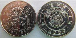 LIBERIA 2000  1 DOLLARO ANNO DEL DRAGO FDC UNC - Liberia