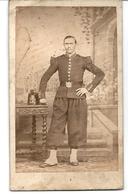 Photo CDV Soldat Second Empire Campagne D'Italie Photographe Sommer Et Behles Naples Et Rome - Guerre, Militaire