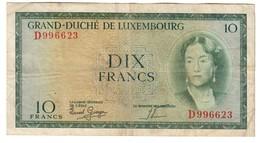 Luxembourg 10 Francs 1954 - Luxemburgo